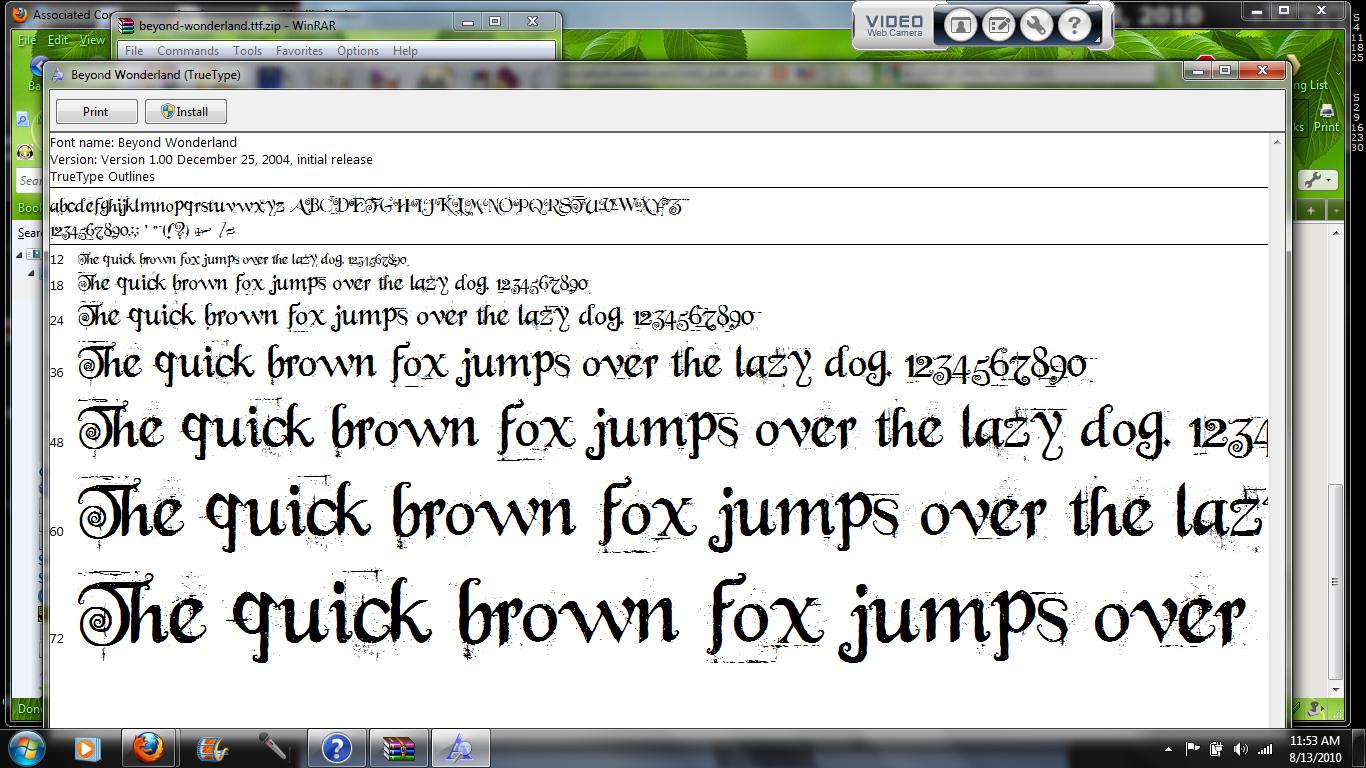 alice in wonderland font | Yellowstar Essentials Blog