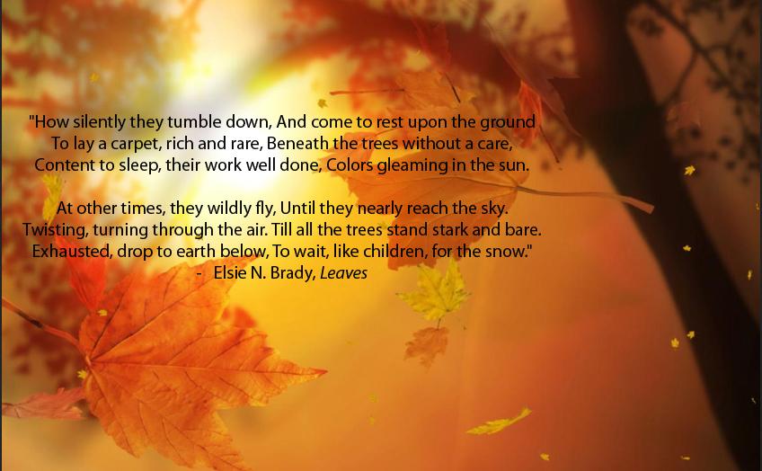 Resultado de imagen para autumn poems short